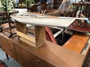 Sale 8805 - Lot 1072 - Pond Yacht on Stand
