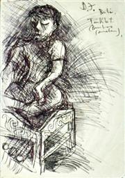 Sale 8972A - Lot 5055 - Donald Friend (1914 - 1989) - Bali Drawing 20 x 14 cm