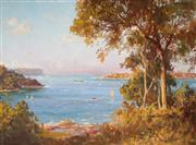 Sale 9013 - Lot 586 - John Allcot (1888 - 1973) - From Bradleys Head, Sydney Harbour 21.5 x 29 cm (frame: 30 x 37 x 4 cm)