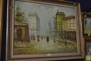 Sale 8425T - Lot 2072 - Framed Painting Street Scene