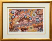 Sale 8552 - Lot 2025 - Gabriella Possum (1967 - ) - Love Story, 1998 53 x 89cm (sheet size: 63 x 90cm)