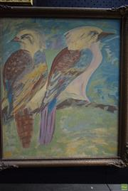 Sale 8582 - Lot 2043 - Artist Unknown - Kookaburras 53 x 45.5cm