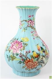 Sale 8594 - Lot 15 - Qing Marked Chinese Blue Vase