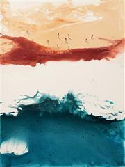 Sale 8624 - Lot 517 - Cheryl Cusick - Beach Wash 120 x 90cm