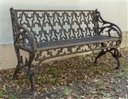 Sale 8745A - Lot 30 - A cast iron bench, H 81 x W 128 x D 45cm