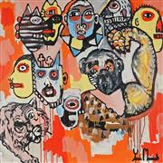 Sale 8826A - Lot 5028 - Yosi Messiah (1964 - ) - Monkey Play 102 x 102cm