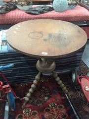 Sale 8822 - Lot 1756 - Cricket Table with Bobbin Turned Legs