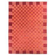 Sale 8870C - Lot 86 - India Checkerboard Design Carpet in Handspun Wool 400x300 cm