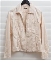 Sale 8902H - Lot 141 - A cream spring jacket by Olsen with central zip, size 10