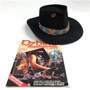 Sale 8893M - Lot 1 - Akubra Style Hat Probably as Worn By Rick Reed of Canned Heat together with Ozbike Down Under Magazine depicting the hat