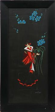 Sale 8945 - Lot 2022 - Artist Unknown - Princess of Peking (Turandot) 90 x 45 cm (frame: 89 x 44 x 2 cm)