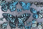 Sale 9001 - Lot 531 - David Bromley (1960 - ) - Butterflies 75 x 111 cm (frame: 85 x 121 x 5 cm )