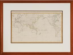 Sale 9133 - Lot 560 - Henry Roberts (1756 - 1796) Carte Generale offrant les decouvertes faites par le Capitaine Jacques Cook dans ce voyage et dans les d...