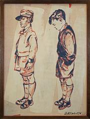 Sale 8420 - Lot 533 - David Bromley (1960 - ) - Boy Thinking 120 x 90cm