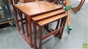 Sale 8409 - Lot 1016 - G-Plan Teak Nest of Tables