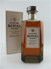 Sale 8439 - Lot 729 - 1x Suntory Whisky Royal Blended Japanese Whisky - in box