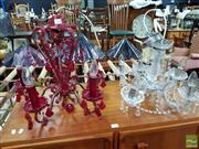 Sale 8480 - Lot 1100 - Two Similar Chandeliers with Five Arms