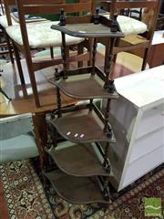 Sale 8532 - Lot 1067 - Timber Five Tier Corner What Not