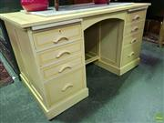Sale 8562 - Lot 1062 - Timber Desk with Eight Drawers