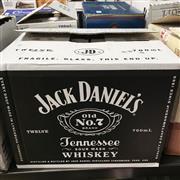 Sale 8801W - Lot 100 - 12x Jack Daniels Old No.7 Tennesse Whiskey, 700ml