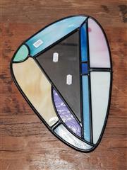 Sale 8826 - Lot 1055 - Jeff Hamilton Rear Vision 8/50 Leadlight Mirror