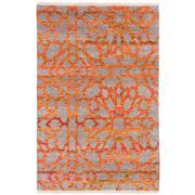 Sale 8870C - Lot 87 - India Sari Silk Mosaic Carpet in Sari Silk & Handspun Wool, 297x197cm
