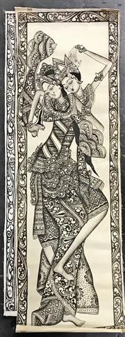 Sale 8949 - Lot 2081 - 3 Thai Paintings & Tsimshian Dragonfly Screen Print