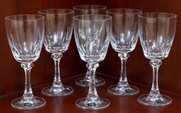 Sale 9155H - Lot 20 - A set of six Mikasa wine glasses. Height 17.5cm