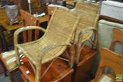 Sale 8289 - Lot 1087 - Pair of Kids Cane Chairs