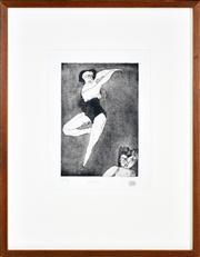 Sale 8344 - Lot 548 - George Baldessin (1939 - 1978) - Dancers, 1963 26 x 18cm