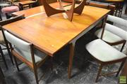Sale 8364 - Lot 1063 - McIntosh Teak Table and Set of Six Chairs