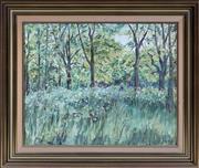 Sale 8369A - Lot 34 - Polly Boyd - Girls in Forrest 48 x 62cm