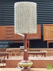 Sale 8435 - Lot 1022 - Danish Ceramic and Turned Teak Table Lamp