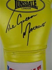 Sale 8450S - Lot 798 - The Green Machine - Danny Green signed Lonsdale 16 oz. Boxing Glove