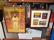 Sale 8668 - Lot 2065 - Two Framed Vintage Prints incl. Bushels Cocoa, Arnotts Biscuits, Colmans Mustard etc