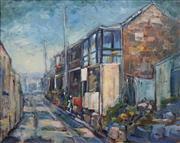 Sale 8704A - Lot 5009 - William Grunstein - Sydney Street Scene 60 x 75cm