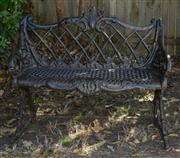 Sale 8745A - Lot 38 - A cast iron bench, H 82 x W 92 x D 47cm