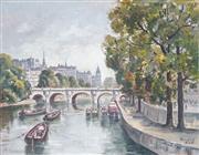 Sale 8892 - Lot 569 - Douglas Pratt (1900 - 1972) - On the Seine, Paris 34 x 44 cm