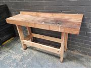 Sale 8962 - Lot 1070 - Pine Work Bench (H:78 x W:137 x D:44cm)