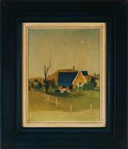 Sale 9011 - Lot 2002 - Dorothy Atkins (1914 - 1997) - Sofala House 22 x 16.5 cm (frame: 36 x 31 x 3 cm)