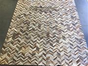 Sale 9039 - Lot 1035 - Large Patch Work Animal Pelt Rug (336 x 301cm)