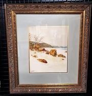 Sale 9058 - Lot 2015 - Jan DeLeener (1873-1944) - Coastal scene 53 x 48 cm