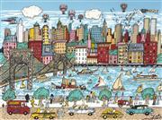 Sale 9081A - Lot 5100 - Charles Fazzoni (1955 - ) - City Promenade 59.5 x 79.5 cm (frame: 96 x 117 x 2 cm)