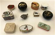 Sale 8436A - Lot 55 - A group of novelty pill boxes decorated with birds and animalia, including cloisonné.