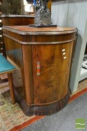 Sale 8507 - Lot 1014 - Art Deco Veneered Bedside Cabinet