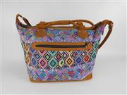 Sale 8514H - Lot 1 - Guatemalan Hand-Made Leather & Woven Weekend Bag