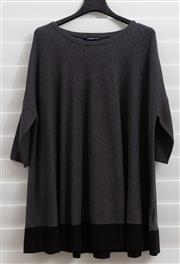 Sale 8902H - Lot 142 - A Henri Lloyd charcoal grey woollen knit with black trim at bottom, size XS