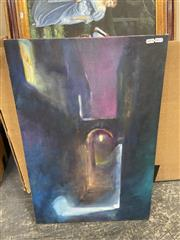 Sale 9045 - Lot 2073 - Artist Unknown, Nightlights in Dark Alley, acrylic on canvas, 77 x 51 cm,