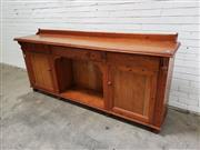 Sale 9059 - Lot 1010 - Large Pine Sideboard (h:96 x w:296 x d:49cm)