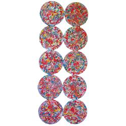 Sale 9093A - Lot 5058 - Evan Mackley (1940 - 2019) - Set of Ten Mackaware Placemats d.25.5 cm, each